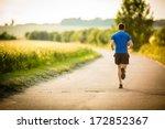 male athlete runner running on... | Shutterstock . vector #172852367