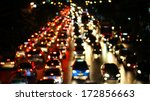 evening traffic. the city... | Shutterstock . vector #172856663