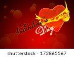 valentine's day lettering... | Shutterstock . vector #172865567
