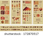 flat infographic elements plus... | Shutterstock .eps vector #172870517