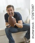 excited mature man cheering... | Shutterstock . vector #172871087