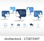 social networking vector | Shutterstock .eps vector #172872407