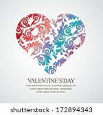 valentines day card background | Shutterstock .eps vector #172894343