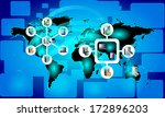 concept of global connectivity... | Shutterstock .eps vector #172896203