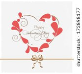 happy valentines day concept... | Shutterstock .eps vector #172898177