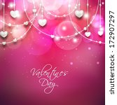 beautiful happy valentines day... | Shutterstock .eps vector #172907297