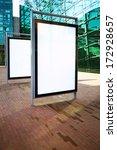 blank ad billboards on a street | Shutterstock . vector #172928657