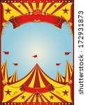 a circus vintage poster with a... | Shutterstock .eps vector #172931873