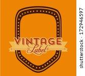 vintage label over orange...   Shutterstock .eps vector #172946597