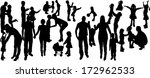 vector illustration with family ... | Shutterstock .eps vector #172962533