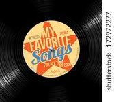 favorite songs  retro vinyl... | Shutterstock .eps vector #172972277