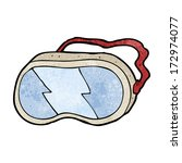 cartoon goggles | Shutterstock .eps vector #172974077