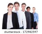 group of happy businesspeople... | Shutterstock . vector #172982597