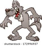 big bad cartoon wolf. vector...