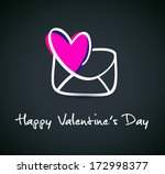happy valentine's day lettering ... | Shutterstock .eps vector #172998377