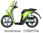 Illustration of a scooter on a white background