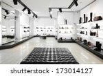 bright large shoe store with... | Shutterstock . vector #173014127
