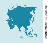 asia map vector | Shutterstock .eps vector #173031407