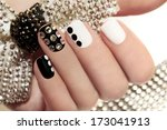 Manicure On Short Nails Covere...