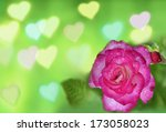 roses and hearts background | Shutterstock . vector #173058023