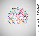 back to school circle seamless... | Shutterstock .eps vector #173062463