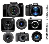 camera set. vector | Shutterstock .eps vector #173078363