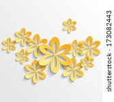 paper 3d floral background | Shutterstock .eps vector #173082443