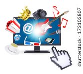 monitor and multimedia objects. ... | Shutterstock . vector #173102807