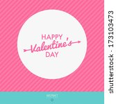 happy valentines day vector... | Shutterstock .eps vector #173103473