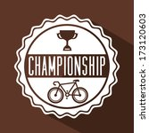 bicycle design over  brown ... | Shutterstock .eps vector #173120603