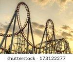 roller coaster's loops at... | Shutterstock . vector #173122277
