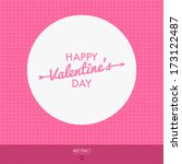 happy valentines day card  i... | Shutterstock .eps vector #173122487