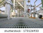 walk way in industrial plant  | Shutterstock . vector #173126933