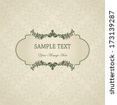 vintage background  antique... | Shutterstock .eps vector #173139287