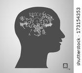 man head silhouette | Shutterstock .eps vector #173154353