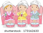 illustration of a group of... | Shutterstock .eps vector #173162633