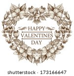 holiday frame happy valentines... | Shutterstock .eps vector #173166647