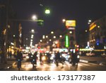 blurred city and people urban... | Shutterstock . vector #173177387