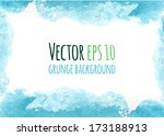 vector colorful watercolor... | Shutterstock .eps vector #173188913