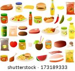 vector illustration of a set of ... | Shutterstock .eps vector #173189333