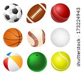 set of balls | Shutterstock .eps vector #173224943