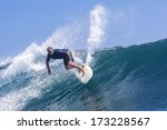 surfing a wave  | Shutterstock . vector #173228567