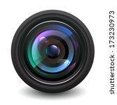 camera lens vector.   Shutterstock .eps vector #173230973