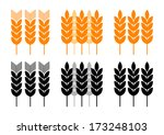 agricultural icons on white... | Shutterstock .eps vector #173248103