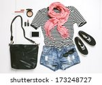 outfit of casual woman. ... | Shutterstock . vector #173248727