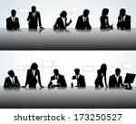 set of business people... | Shutterstock .eps vector #173250527