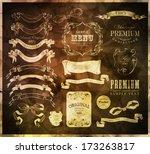 calligraphic design elements   Shutterstock .eps vector #173263817
