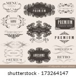 calligraphic design elements... | Shutterstock .eps vector #173264147