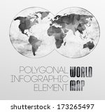 polygonal world map and...   Shutterstock .eps vector #173265497