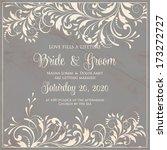 wedding invitation card | Shutterstock .eps vector #173272727